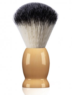 Bassion Hand Crafted Shaving Brush for Men, Professional Hair Salon Tool with Hard Wood Handle